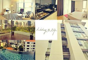 ベンジャシリ公園のすぐ側に建つ北欧風の新築アパート Living at 24