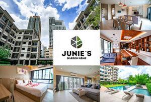緑いっぱいの中庭に惚れた! ソイ39の新築アパート「Junie's Garden Home」