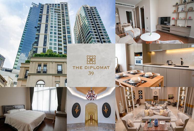 ヨーロッパ調のデザインとあふれ出す高級感。ソイ39の最新コンドミニアム「The Diplomat 39」。